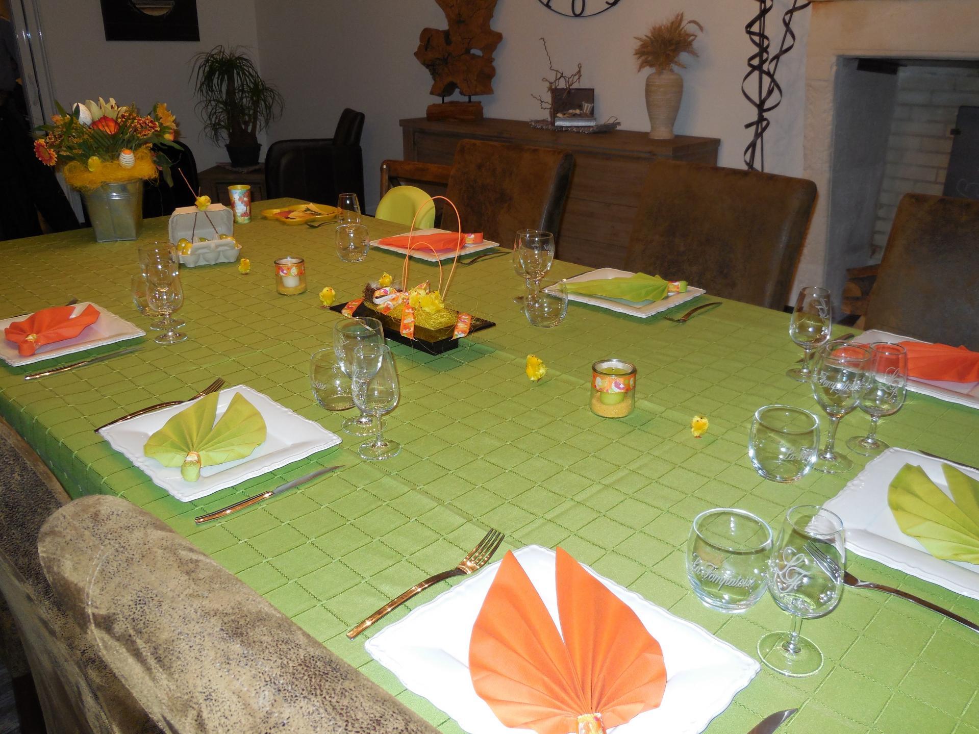 la table à pâques